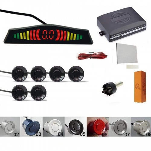 Kit senzori parcare fata spate cu display slim & avertizare sonora