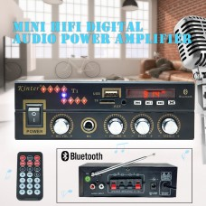 Statie Audio 2x25w Intrare Stick USB Card SD AUX Bluetooth si cu telecomanda