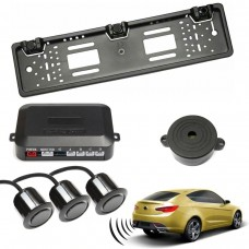 Set senzori parcare auto cu buzzer pe suport numar